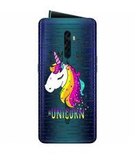 Coque OPPO RENO 2 licorne raye unicorn arc ciel rainbow star transparente