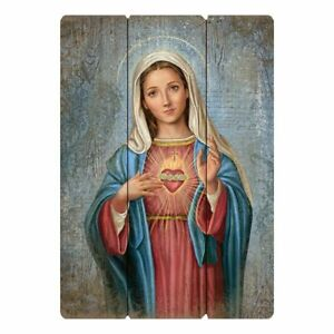 """12"""" x 15"""" Wood Pallet Sign Immaculate Heart of Mary"""