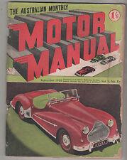 Motor Manual 1950 Sep 54 Alvis Sports Roadster Morris Oxford Fiat 1400 David Bro