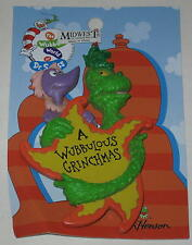 "Dr Seuss Grinch Ornament ""A Wubbulous Grinch-Mas"" 4"""