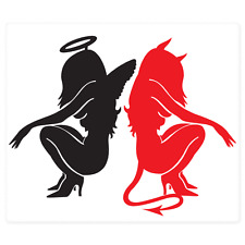 "Angel and Devil Hot Girls Car Styling car bumper sticker decal 6"" x 5"""
