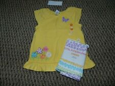 NWT Gymboree Butterfly Blossoms Yellow Flower Butterfly Top~Stripe Legging 2 2T