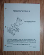 MTD H & K STYLES SNOW THROWER OPERATORS MANUALWITH ILLUSTRATED PARTS LIST