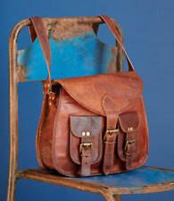 Vintage Goat Leather Women Purse Tote Handbag Satchel Cross body Messenger Bag