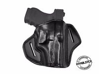 Open Top OWB Right Hand Leather Belt Holster Fits Springfield XD-E