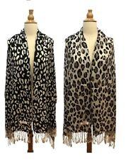 Fashion Scarf Wrap Shawl Pashmina Leopard Animal Print Spot Cheetah Tassel Warm