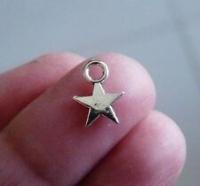 50pcs Bulk Star Charms for Bracelets Wholesale Tiny Necklace Pendant Silver tone