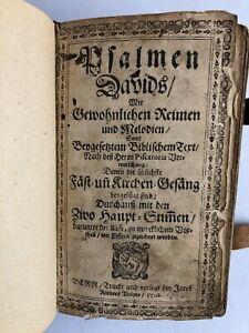 Psalmen Davids ... !!! Jahresausgabe 1702 !!! mit 461 Seiten