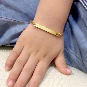 Personalized Engrave Kid Child Baby ID Name Bracelet Newborn Birthday Boy Gift