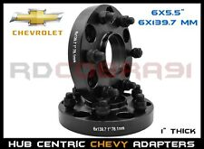 2 Pc Chevy Silverado 1500 1 Inch Black Hubcentric Wheel Spacers Adapters 2x4 4x4