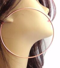 LARGE HOOP EARRINGS ROSE GOLD PLATED HOOP EARRINGS 100 MM 4 INCH HOOPS