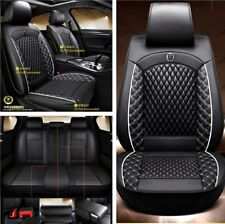 High Quality Car Auto 5-Sits Cover Set Black Durable Leather Cushion Breathable
