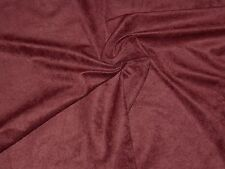 "Leiter's GARNET POLYESTER SPORT SUEDE Clothing Fabric 60"" Wide x 1¾ Yards"