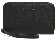 NWT Marc Jacobs Pike Place Leather Zip Phone Wristlet BLACK
