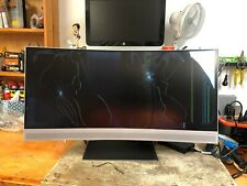 "HP ENVY 34"" Curved WQHD Display Computer Monitor *For Parts, Screen is Broken*"