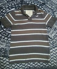 Hollister Polo brown stripe shirt size small