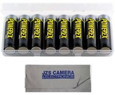 Powerex Pro Rechargeable AA NiMH Batteries [2700mAh, 1.2V] (8-Pack) & Cloth