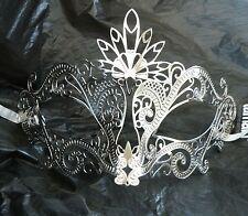 Silver Filigree Metal Venetian Masquerade Party Mask * NEW *