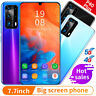 New 7.7 In Smartphone Android10 Core 2SIM Unlocked Mobile Phone 5G Wifi GPS 512G