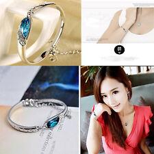 Fashion New Romantic Jewelry Women Crystal Bracelet Vintage 925 Silver Bracelet