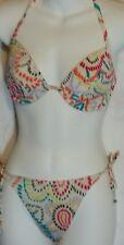 Victorias Secret swimwear sz 34 D Bikini swim suit multi-color 2 piece matching