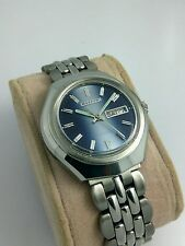 NOS Citizen vintage automatic blue dial watch new old stock, MINT 80's stock L3~