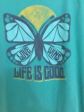 "LIFE IS GOOD WOMENS LIGHT GREEN ""Love Wins""  t-shirt size XL Short Sleeve"