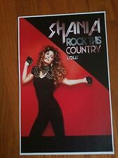 Shania Twain 11x17 Rock This Country promo tour concert poster tickets