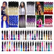 5 Packs 24'' Synthetic Ombre Jumbo Braiding Hair Kanekalon Braids Hair 100g/pc