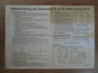 Saba Freiburg W III (3), Schaltplan, altes Röhrenradio