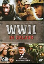 WWII IN COLOUR NARRATED BY ROBERT POWELL - 3 DVD BOX SET WORLD WAR 2 (TWO) WW2