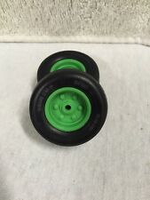 TOY FARMER 12.5Lx15  PLASTIC DUETZ GREEN RIMS AND TIRES