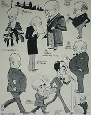 Bristol City Council Members Councillors Humour 1929 Fred May Caricatures 7547