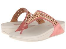 NEW FitFlop CARMEL TOE-POST Peach Suede, Flip Flop, Women Size 11, $100