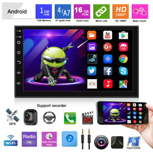 New 2Din 7'' Android Car MP5 Player Stereo Radio Touch Screen FM GPS Navigation
