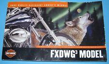 2002 - Harley Davidson® FXDWG3® - Dyna®-Wide Glide® - Motorrad Benutzerhandbuch