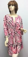 St John Knit NWT Passion Multi Silk Dress Top Cover With Studs SZ XL $790