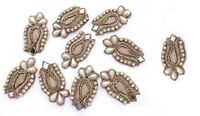 Royal Indian Appliques Decorative Patches Beaded Applique Sewcrafting 5 Pair