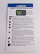 Garmin GPSMAP 396 Quick Reference Guide GPS Manual P/N 190-00462-01