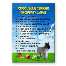 KERRY BLUE TERRIER Property Laws FRIDGE MAGNET Steel Cased