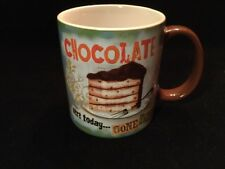 JESSICA FLICK SQUARE ONE BRANDS CHOCOLATE HERE TODAY GONE TODAY COFFEE MUG CUP