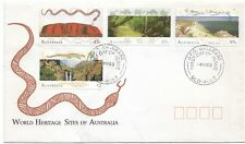 1993 Fdc World Heritage Sites of Aust set 4 Fdi Brisbane 4 March Qld 1993