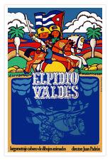 """Cuban Poster 4 film""""ELPIDIO Valdes""""Cuba Animated.Home interior Graphic Design"""