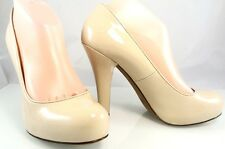$285 MARC MARC JACOBS ALMARC NUDE PATENT PUMP HIDDEN PLATFORM Womens Shoes 39 9