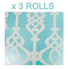 Sophie Conran Teal Wallpaper Silver Glitter Textured Balustrade Jewel Luxury x 3