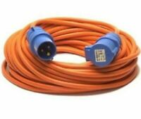 25m Caravan Extension Lead Electric Hook Up Cable 4 Way UK 13a to 16a Adaptor A2