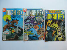 LOT OF 3 VINTAGE JONAH HEX, DC COMICS, USED