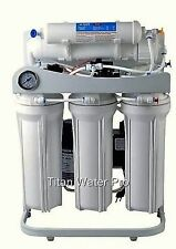 RO Reverse Osmosis Water Filter 5 Stage System 400 GPD-Booster Pump & PSI Gauge