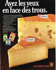 PUBLICITE ADVERTISING 064  1969  SWITZERLAND   fromages  gruyère emmenthal