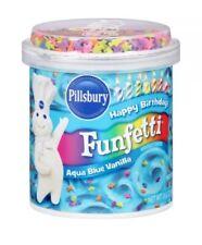 Pillsbury Funfetti Aqua Blue Vanilla Frosting 15.6 oz GLUTEN FREE
